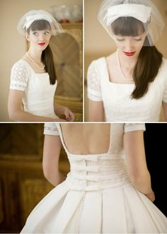 Pretty wedding dress with sleeves. If you click the link it will actually show you a bunch of dresses with sleeves. This was one of my favorites. Some look too casual. But I think, my friends, strapless is finally going!