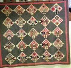 Antique Pieced Sampler Quilt late 19th century scrap quilt  w provenance picclick.com