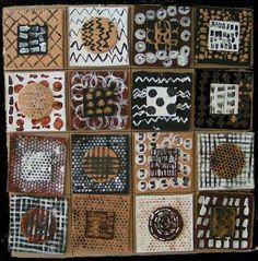 L'an dernier , nous avions fait rouler des billes dans la peinture sur la surface papier. Cette année, je pense prendre exemple sur ce sudoku africain de chez Nanoug . Ce serait ainsi l'occasion de... Preschool Painting, Preschool Art, Art Activities For Kids, Art For Kids, African Art Projects, Afrique Art, Art Mat, Aboriginal Art, Teaching Art