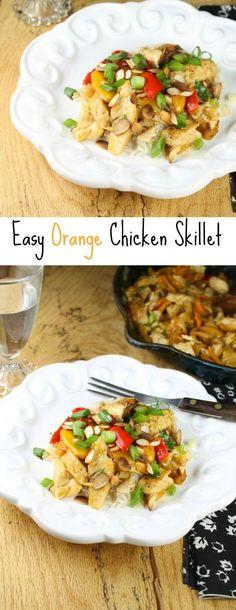 Easy Orange Chicken Skillet From missinthekitchen.com