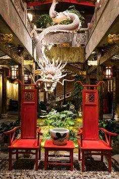 Hot pot restaurant in China by 光圈影像 Chinese Garden, Chinese Bar, Chinese Style, Asian House, Ancient Chinese Architecture, Chinese Interior, Deco Originale, Restaurant Concept, Bohemian House