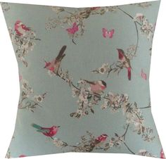 Items similar to Designer Duck Egg blue pink floral vintage bird chic Butterfly cushion cover on Etsy Vintage Birds, Vintage Floral, Vintage Decor, Shabby Chic Cushions, Floral Cushions, Duck Egg Blue Bedroom, Butterfly Cushion, Bedroom Accessories, New Living Room
