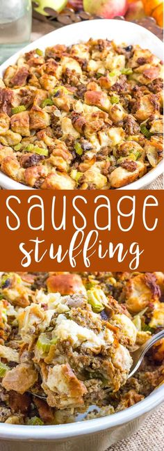 A savory and delicious sausage stuffing. Layers of flavor, and a great side dish.