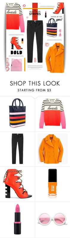 """The Revolutionary Stripes"" by cara-mia-mon-cher ❤ liked on Polyvore featuring Mother of Pearl, Chinti and Parker, Acne Studios, J.Crew, Kat Maconie, JINsoon, ZeroUV and Silver Spoon Attire"