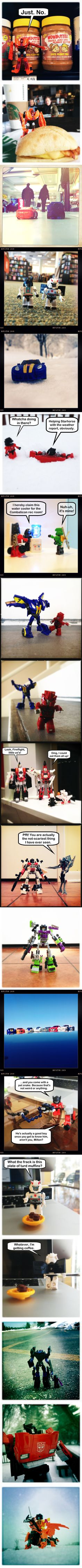 Random regular day that transformers do :D - Awww!!!! I love the Vehicon one ^w^