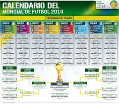 Calendario del Mundial de Futbol 2014 | El Economista  http://eleconomista.com.mx/infografias/2014/06/03/calendario-mundial-futbol-2014