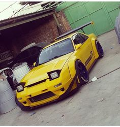 #Nissan #Silvia #S13 #240sx #Modified #WideBodyFlares #Slammed #Stance