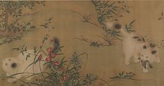 Copy after Xuanzong (Chinese, born 1398, r. 1426–35). Spring Play in a Tang Garden, 18th century. Qing dynasty (1644–1911). The Metropolitan Museum of Art, New York. From the Collection of A. W. Bahr, Purchase, Fletcher Fund, 1947 (47.18.9) #spring