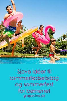Hvis man har en pool, eller et lidt større soppebassin, som fungerer til det antal gæster, man vil invitere, kan man holde poolparty – det er noget af det, der er mest populært – og cool – om sommeren!