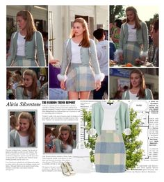 """""""Alicia Siverstone as Cher Horowitz { Clueless }"""" by albacampbell ❤ liked on Polyvore featuring Topshop, River Island, Eastex and Theory"""