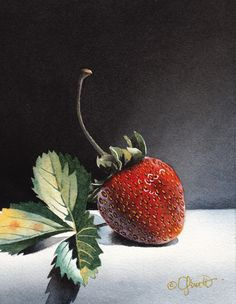 Contemporary Realism: The Strawberry- Jacqueline Gnott