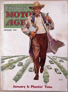 Chilton's Motor Age, January 1956. (Cover art by Richard Hook)