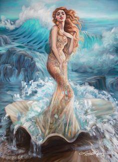 Художница показала, как выгляделобы море, будь оно прекрасной девушкой