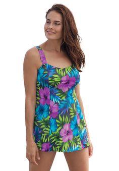 Perfect print swimdress by Swim 365®   Plus Size Swim Dresses   Woman Within