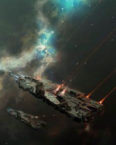 Battlecruiser on a Mission by Oshanin Dmitriy
