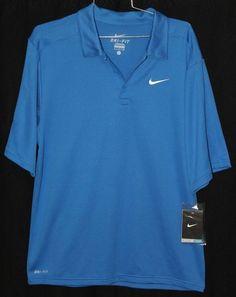 3c61a86f4 Men's S Nike Dri Fit Men's Polo for Athletes Tennis Golf Blue NWT $45 #Nike