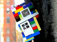 Jaye Moon street art in DUMBO Noted Artist/Sculptor Jaye Moon Brings Her Vision to NYC Streets with Legos and Plexiglas