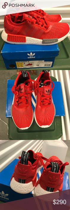 DS Adidas NMD W 'Red Runner' Size 6.5 FOR BETTER PRICING TEXT 4025078852 !!!!!!!!!!!!!!!!Brand new pair of Women's  Adidas NMD adidas Shoes Sneakers