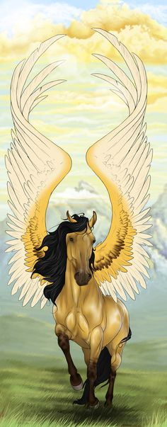 30 Day Percy Jackson Challenge: Day 15. Favorite mythical creature species: anything horse-like. Pegasi, hippocampi, storm spirits, Arion, anything.