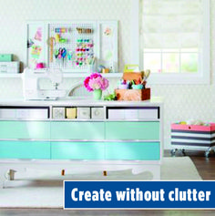 Peek into stylish and functional sewing rooms and work spaces! Steal storage ideas for your own room or be inspired to carve out room in your home for an organized sewing space. Diy Storage Furniture, Furniture Projects, Furniture Making, Furniture Makeover, Home Projects, Painted Furniture, Office Furniture, White Furniture, Furniture Reupholstery