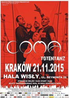 Relacja z krakowskiego koncertu zespołu Coma tutaj: http://heavy-metal-music-and-more.blogspot.com/2015/11/zespo-coma-zagra-koncert-w-krakowie.html