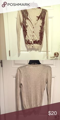 Nice lace detail! Great cardigan with lace detail! Chloe K Sweaters Cardigans