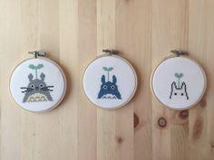 Totoro Cross Stitch ensemble de 3 4 Hayao par ThisTweeStitch