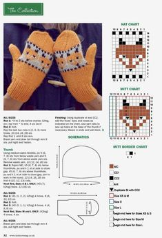 Photo Knitted Mittens Pattern, Fingerless Gloves Crochet Pattern, Animal Knitting Patterns, Baby Sweater Knitting Pattern, Fair Isle Knitting Patterns, Knitting Stiches, Fingerless Mittens, Knit Mittens, Knitted Gloves