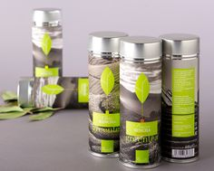 Green tea by o-zone.  Love the green tea leaf illustration and the background images. PD