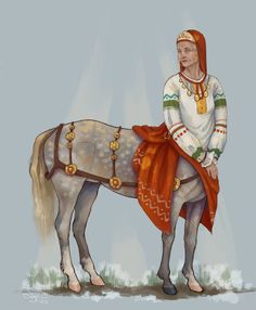 Slovenian woman (may be polyanne tribe) x Orlov trotter in first days of spring Slovenian the centaur Character Creation, Character Art, Character Design, Fantasy Creatures, Mythical Creatures, Drawing People, People Drawings, Dungeons And Dragons Game, Fantasy Races