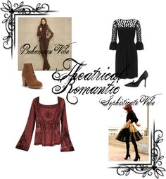 """""""Theatrical Romantic Kibbe"""" by mpsakatrixie on Polyvore"""