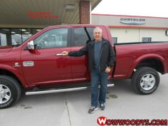 "Dale Malasek from Kansas City, Missouri purchased this 2013 Ram 2500 and wrote, ""Great salesman (David) no pressure! Would highly recommend this dealership!"" To view similar vehicles and more, go to www.wowwoodys.com today!"