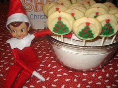 Magic Elf Seeds (aka tic tacks), put them in sugar, next am, kids wake up to cookies :)  So excited to do this next year!