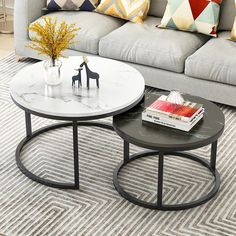 Round Coffee Table Sets, Used Coffee Tables, Small Coffee Table, Modern Coffee Tables, Large Table, Mesa Metal, Iron Table, Table Storage, Living Room Lighting