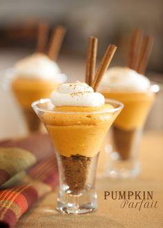 Pumpkin Parfait #food photography #pumpkin desserts #pumpkin