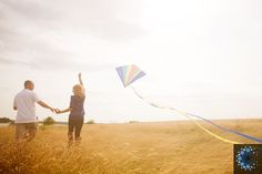 Engagement Photo Shoot with Kite - http://capturedphotography ...