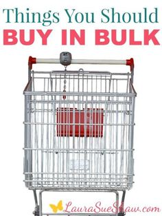 Buying in bulk can end up saving you a lot of money! Especially when you follow this trick. Here are some items that I usually find great deals on when I buy them in bulk!