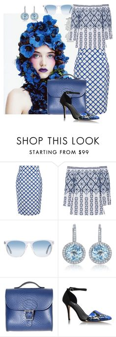 """""""Untitled #972"""" by srlangley ❤ liked on Polyvore featuring Jonathan Saunders, Miguelina, Oliver Peoples, Diana M. Jewels, Brit-Stitch and Carvela Kurt Geiger"""