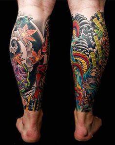 calf tattoo ideas