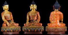 This Shakyamuni Buddha statue is seated in dhyana asana or meditative pose. In this position, the legs are crossed, closely locked with the soles of both feet visible. Lord Buddha is seated on a single lotus base also known as padmasana. This hand painted, lost wax method copper sculpture is a one of a kind statue, hand cast by the very talented artists of the beautiful country of Nepal. Every piece is truly unique!