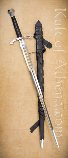 Darksword Black Death Gothic Sword with integrated Scabbard Belt
