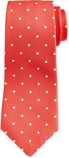 Kiton Grenadine Dot Tie, Coral