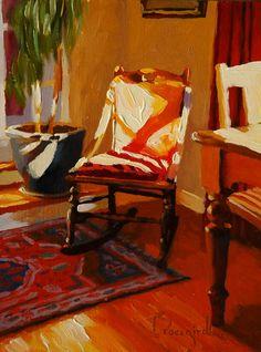 ◇ Artful Interiors ◇ paintings of beautiful rooms - Larry Bracegirdle