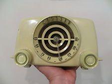 VINTAGE 1940s CROSLEY ART DECO OLD MID CENTURY ANTIQUE ATOMIC BULLSEYE RADIO !!!