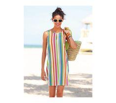 Prúžkované šaty bez rukávov | vypredaj-zlavy.sk #vypredajzlavy #vypredajzlavysk #vypredajzlavy_sk #dress