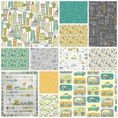 Road Trippin by Terri Degenkolb of Whimsicals for Windham Fabrics  Terri Degenkolb of Whimsicals proudly presents Road Trippin.  This collection began with a family vacation which inspired Terri to design this modern collection with a healthy dose of playfulness.  Road Trippin  is the perfect collection for luggage, apparel and modern quilts. #RoadTrippin #WindhamFabrics Dinosaur Photo, Directional Signs, Windham Fabrics, Free Studio, Road Trippin, Quilt Top, Floral Bouquets, Baby Quilts, White Jeep