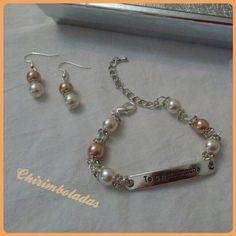 Conjunto perlas y brillantes