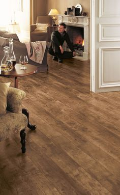 Flooring Village stock a range of Quick Step, Egger, Krono and Aqua Step Laminate flooring as well as Tuscan and Woodpecker Engineered Flooring Dark Laminate Wood Flooring, Hardwood Floors, Cork Flooring Bathroom, Bathroom Wall, Quickstep Laminate, Quick Step Flooring, Floating Floor, Classic Living Room, Rustic White