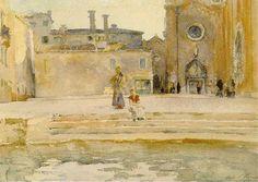 Campo dei Frari, Venice, by John Singer Sargent