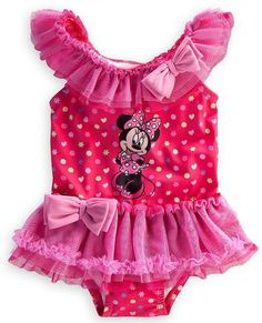 c3da922ff7724 Store Minnie Mouse Swimsuit Toddler Size 2T  Pink 1-Piece Swimwear Minnie  Mouse Swimsuit